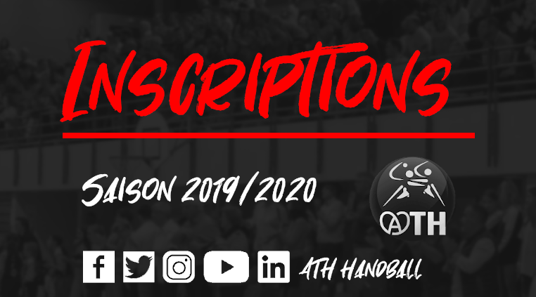 Inscriptions ATH Handball Saison 2019/2020