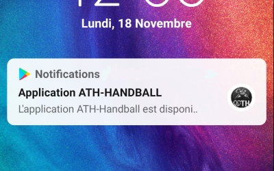 Application ATH – HANDBALL
