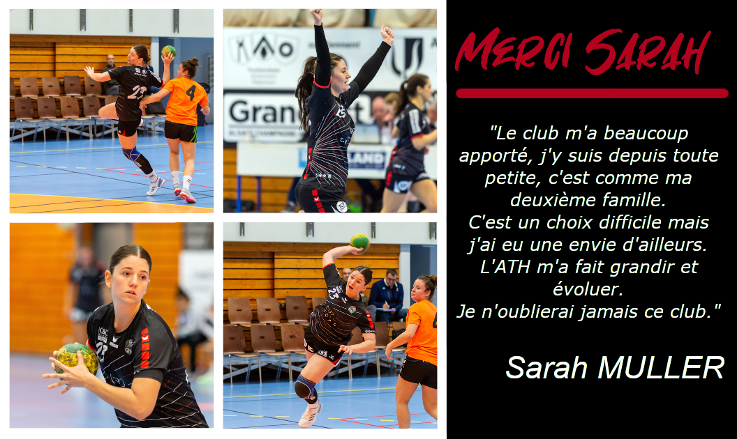 DEPART : SARAH MULLER