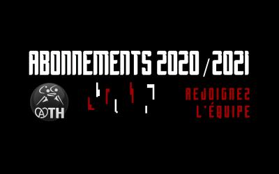 ABONNEMENTS SAISON 2020/2021