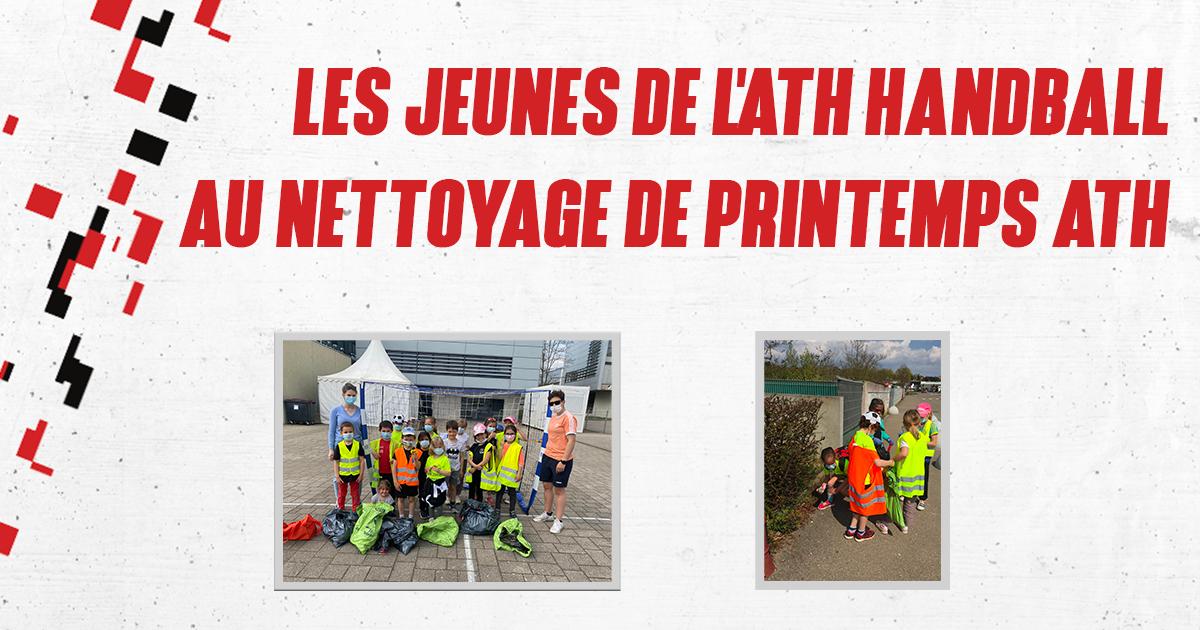 LES JEUNES DE L'ATH HANDBALL AU NETTOYAGE DE PRINTEMPS ATH